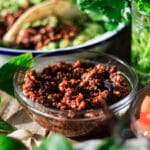 bowl of quinoa taco meat