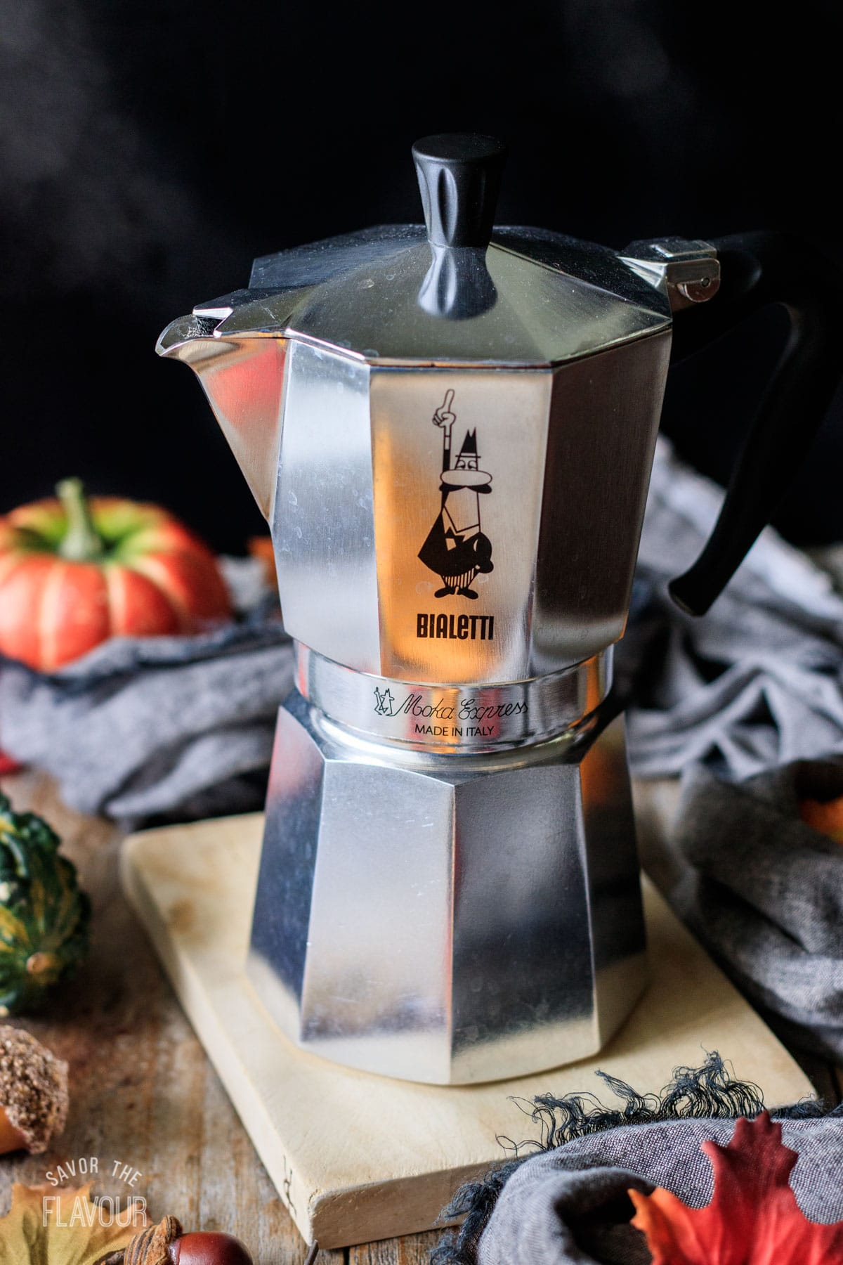 moka pot filled with brewed espresso