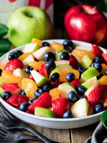 Chick-fil-A fruit tray in a white bowl